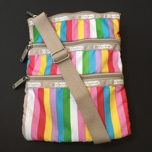 Lesportsac Handbags - LeSportSac | Striped Crossbody Bag